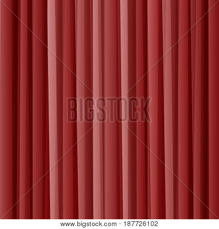 Striped red geometric abstract background, vector illustration