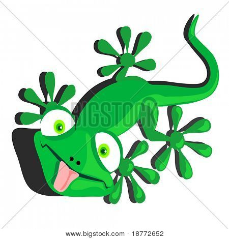 vector illustration of a dorky lizard