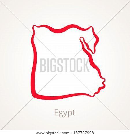 Egypt - Outline Map