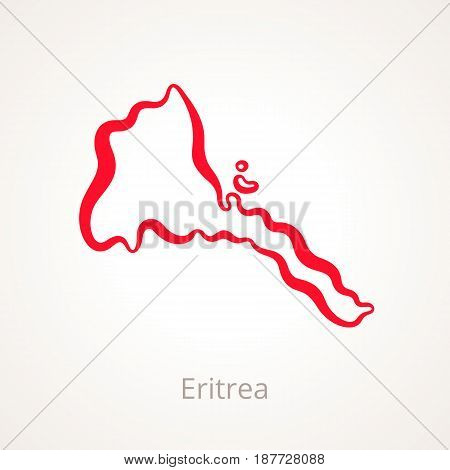 Eritrea - Outline Map