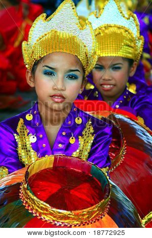 MANILA, PHILIPPINES - APRIL 24:Aliwan Festival, a yearly parade of cultural festivals that could be found in the country, this year's main event was held on April 24, 2010 Manila, Philippines.