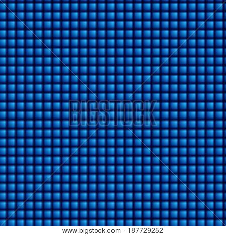 Abstract geometric square blue seamless pattern background. Vector illustration