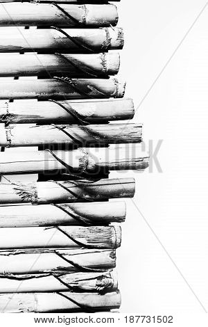 Abstract Texture Background Of A Bamboo Wall