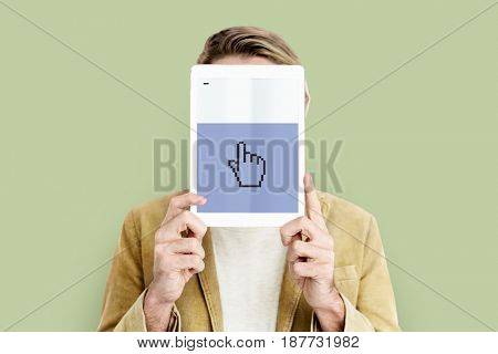 Web design programming hand cursor icon