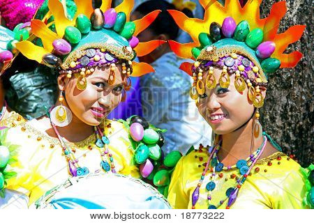 MANILA, PHILIPPINES - APRIL 16: Aliwan Festival, a yearly parade that features the cultural festivals that could be found in the country, this year's parade was held on April 16, 2011 Manila, Philippines.