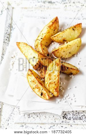 Homemade French Fries with Sea Salt