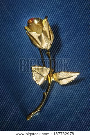 Golden tulip. Vintage brooch.