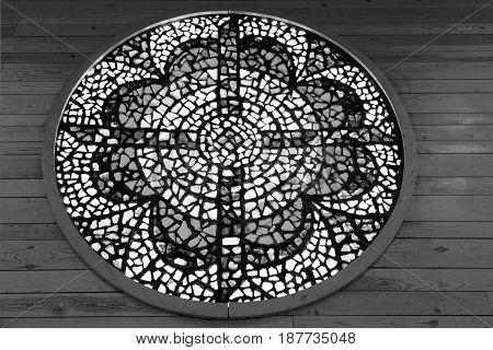 In The Sanctuary  The Colorful Rose Window