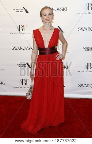 NEW YORK-MAY 22: Elina Miettinen attends the American Ballet Theatre 2017 Spring Gala at David H. Koch Theater at Lincoln Center on May 22, 2017 in New York City.