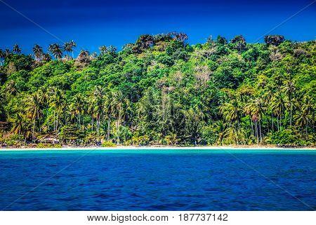 idillyic tropical hidden beach