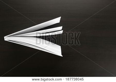 Book on black background