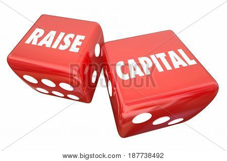 Raise Capital Take Chance Business Loan Investment Dice 3d Illustration