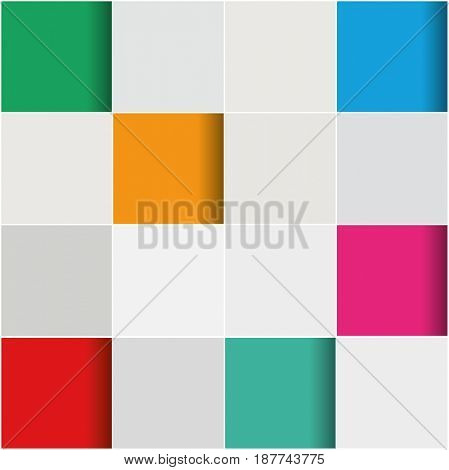 3D abstract background with tiling pattern design in many colors