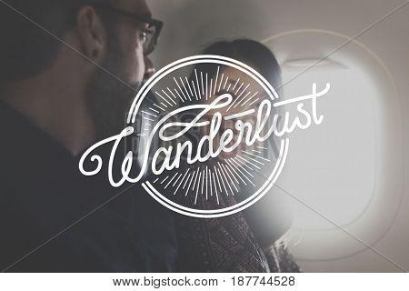 Wanderlust Escape Travel Explore Words Graphic