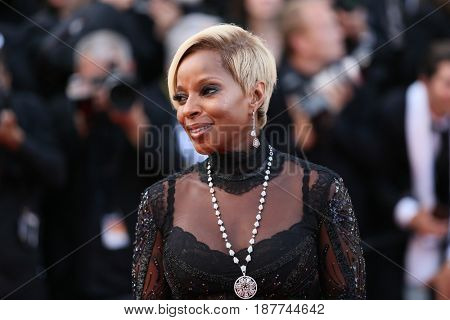 Mary J. Blige attends the 'The Meyerowitz Stories' screening during the 70th annual Cannes Film Festival at Palais des Festivals on May 21, 2017 in Cannes, France.