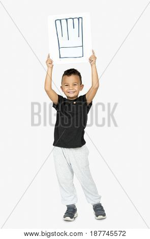Kid with chef hat culinary concept