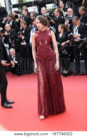 Anna Cleveland attends the 'The Killing Of A Sacred Deer' screening during the 70th Cannes Film Festival at Palais des Festivals on May 22, 2017 in Cannes, France.