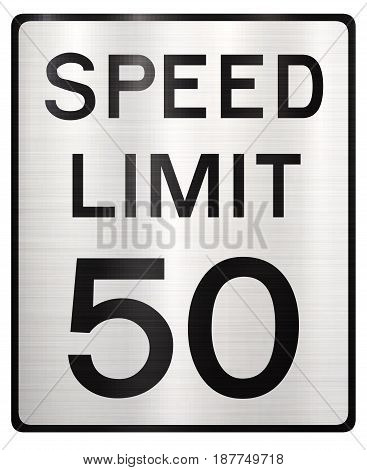speed limit 50 mph traffic  warning   highway