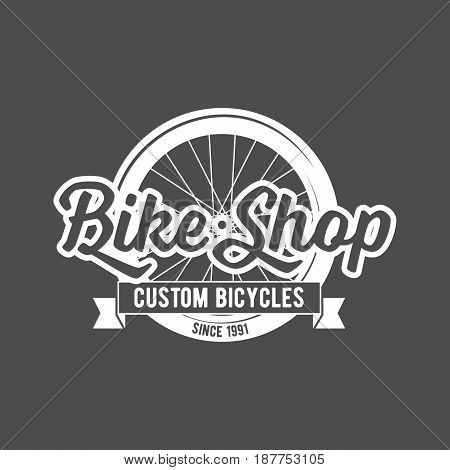 vintage and modern bicycle shop logo badge and label
