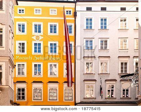 Geburtshaus von Mozart in Salzburg in Österreich