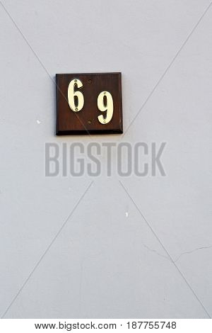 Number In A Wall House Like Texture      Background