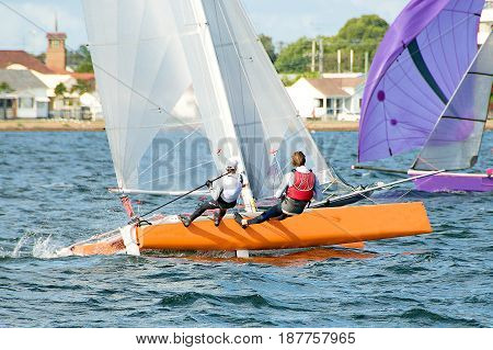 High School Sailing Championships at Belmont Lake Macquarie New South Wales Australia.