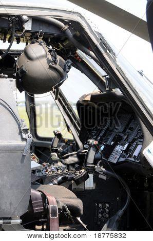 KILL DEVIL HILLS, NC - AUG 5: Cockpit of Sikorsky UH-60 Black Hawk helicopter, based at 82nd Airborne Div. at Fort Bragg, visiting Wright Brothers Nat. Mem. on Aug 5, 2008.