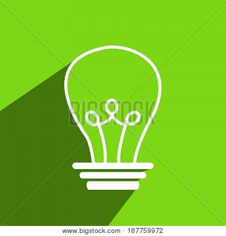 illustration of bulb on green background for ecosystem