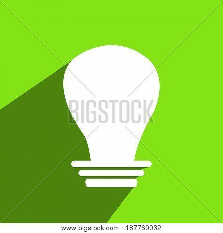illustration of white bulb on green background