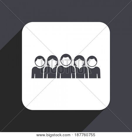 People flat design web icon isolated on gray background