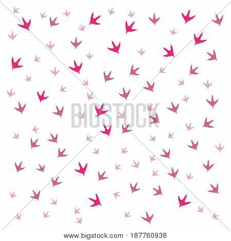 Nice Picture Of  Traces Of Birds