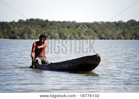 KAMAYURA VILLAGE, BRAZIL - MAY 18: Kamayura is a remote Indian tribe of under 400 people. Ataulo