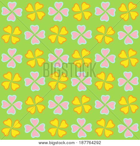 Repeatable background with flowers for website wallpaper textile printing texture editable in vector