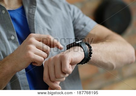 Technology. Watch on a hand
