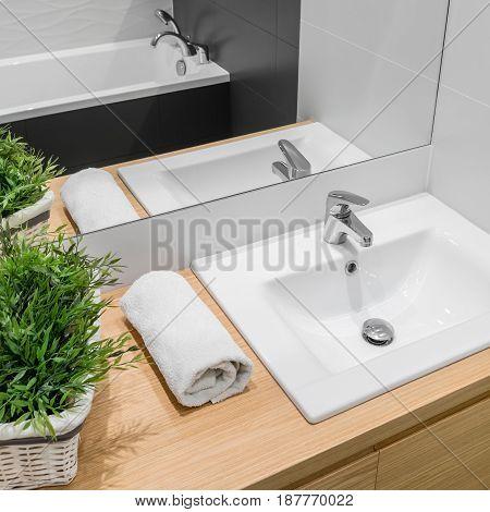 Modern Bathroom With Basin Cabinet
