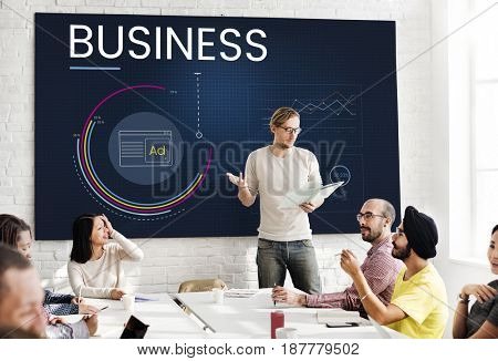 Business Planning Information Analysis Graph Summary Graphic Illustration