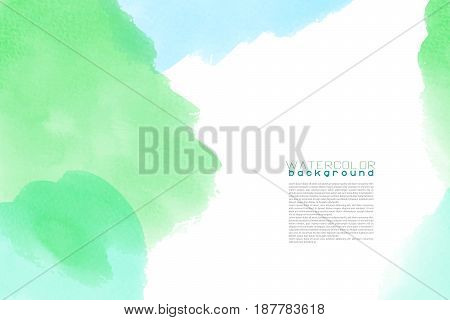 artistic backdrop, vector with brush strokes, watercolor look background with colorful hand painted stains