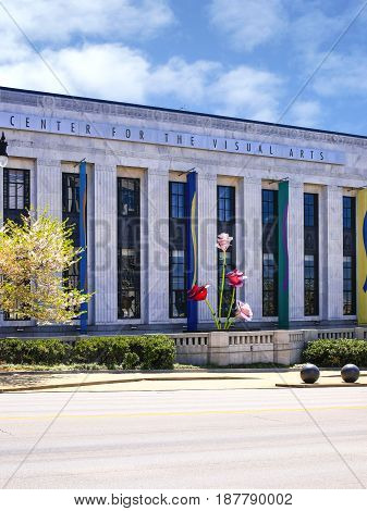 Nashville, TN, USA - 04/05/2015: The First Center for Visual Arts building in Nashville Tennessee