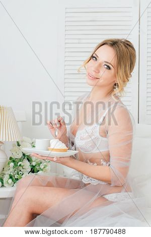 Boudoir Bride's Morning
