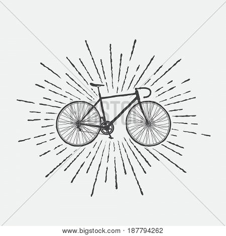 Sign of sports bicycle isolated on white background.Vector symbol