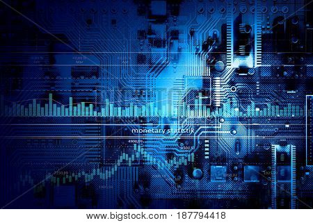 Microcircuit digital background
