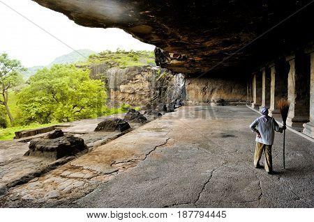 Jun 30,2010 Ellora cave, Aurangabad, Maharashtra, India, Indian Sub-Continent, Asia