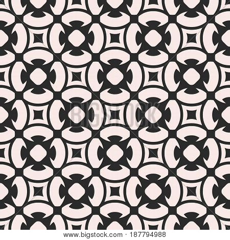 Ornamental seamless pattern, vector geometric floral texture, monochrome ornament, delicate lattice. Abstract background in oriental style. Design element for prints, textile, decor, tiling, ceramic