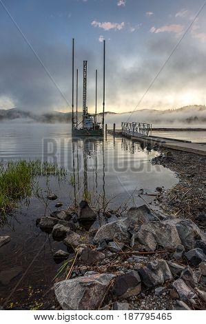 Shore of Hauser Lake in north Idaho.