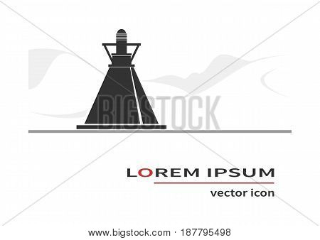 Buoy icon isolated on background. Vector illustration.