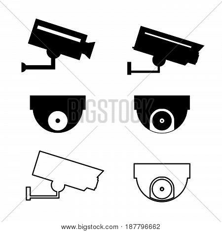 Icons For Video Surveillance Set Illustration