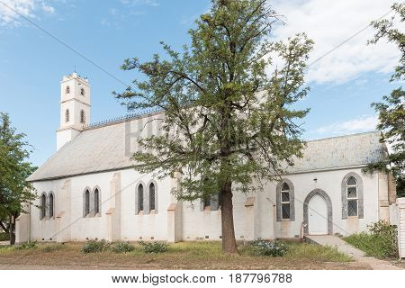 ABERDEEN SOUTH AFRICA - MARCH 23 2017: The Methodist Church in Aberdeen a small town in the Eastern Cape Province