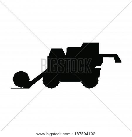 agriculture vehicle concept - cultivation seeding and harvesting packing and transportation vector illustration