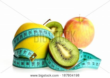 Concept Of Fruity Diet And Healthy Nutrition