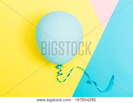 Party Theme With Balloon On A Vibrant Background